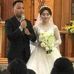 B59-35.新郎新娘謝詞(樂歌安牧師攝)