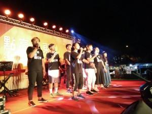 屏東市基督教點亮屏東本會青少年受邀宴唱。