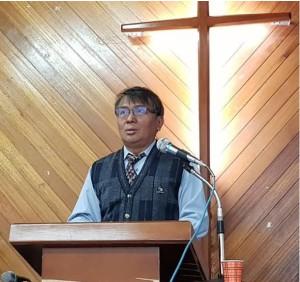 賴約翰於佳崇教會講道資料照