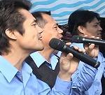 4-4.佳美宣道團樂團(右1是我比悠瑪族人與表弟)
