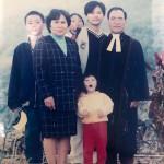 6-6.祖父祖母和我與妹妹賴啟馨及堂姐賴翔雲堂哥賴俊華在泰武教會續聘留影
