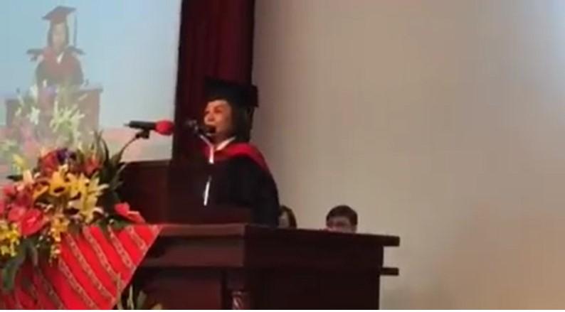 第一名畢業生的致答詞-從山上花園走入教會與社會