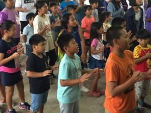 佳崇教會主日學生參與排灣中會教育部於滿洲鄉碧蓮天農場舉辦夏季營活動 攝影-曾伍芳