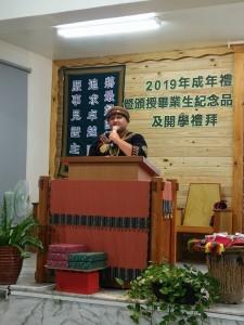 ◆玉山神學院神學生瑀穠,以站在講台,傳講上帝的信息為句點,完成在楓林教會1個月的實習。