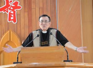 ◆台灣基督長老教會總會議長陳見岳牧師於比悠瑪長老教會主日培靈