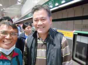◆會議後與阿美中會希僕文·幸蓋牧師於台北車站留影。2019/11/28