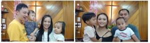 ◆周華貴長老女婿與傅梅珠牧師女婿家庭帶寶寶參加主日禮拜。2020.8.16 攝影 賴約翰《請點圖放大》