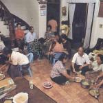 3-2.每天晚上的各式教會活動是平靜山村的生活重心,族人同時藉由教會活動溝通訊息、串連情感。上圖為部落老人家的松年團契。