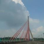 5-1.驅車前往台南市台灣教會公報社行經南二高高屏分界斜張橋