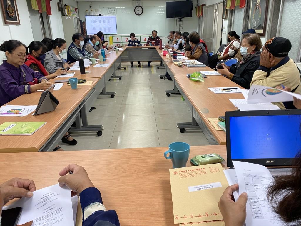◆大傳部部長蔡愛蓮牧師(左1)參加排灣中會部會事工協調會 攝影/本部部員法拉卡斯牧師 2021.2.25(四)