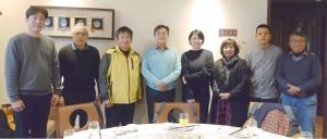 ◆台灣基督長老教會傳播基金會第七屆董事會(董事與監事)最後一次會議後合照,左4為董事長方嵐亭牧師(同時為台灣教會公報社社長)。2021/1/11 小米園網站工作室資料